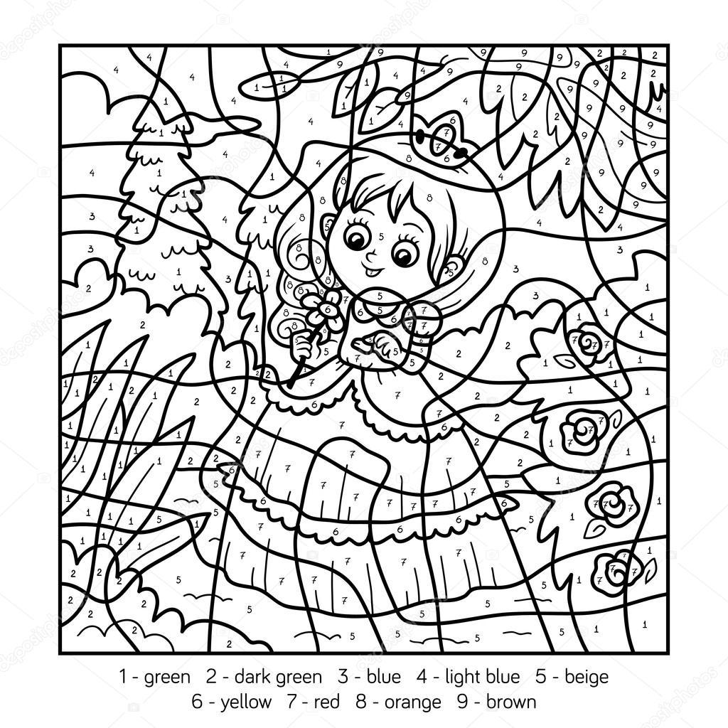 Kleurplaat Printen Prinsesje Kleurplaat Nummers Inkleuren Lapsi