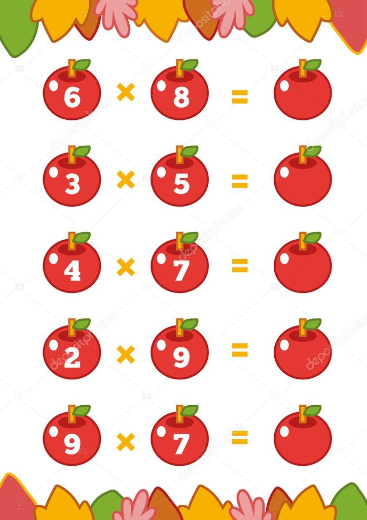 Counting Game for Children. Multiplication worksheets