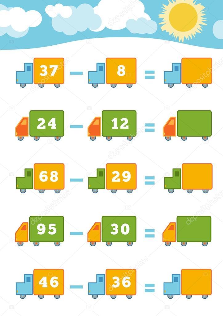 Oyun Okul öncesi çocuklar Için Sayma çıkarma çalışma Sayfaları
