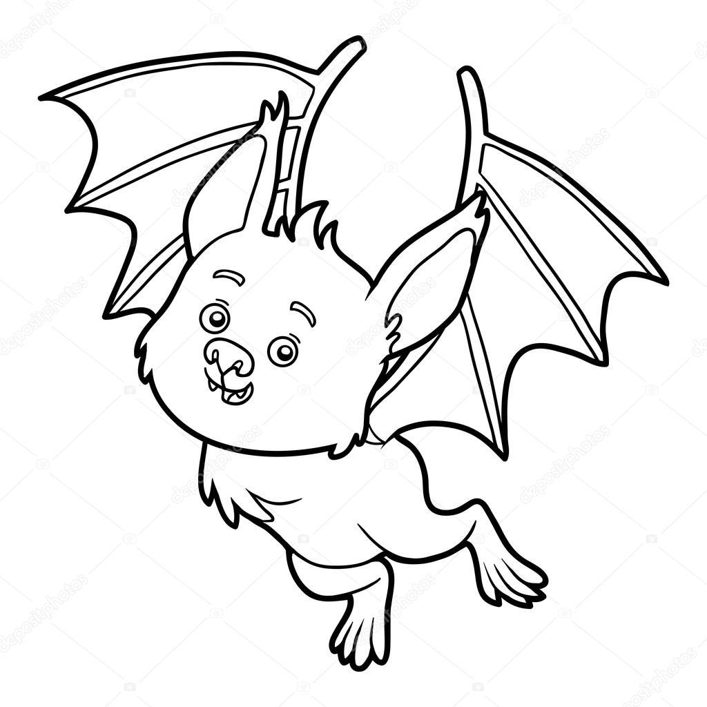 Libro de colorear, Bat — Vector de stock © ksenya_savva #122226674