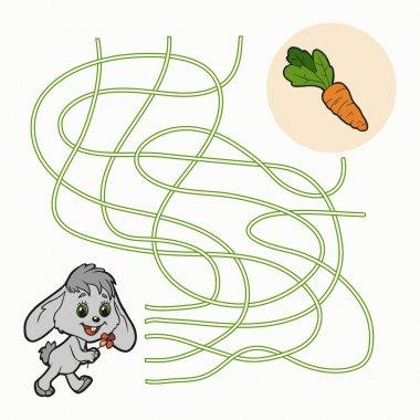 Maze Game for children (rabbit)
