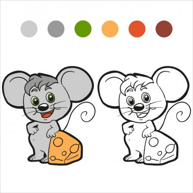 Coloring book (mouse)