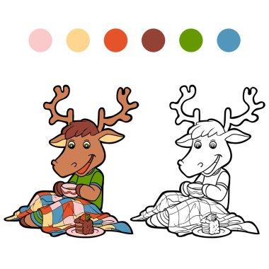Coloring book (deer)