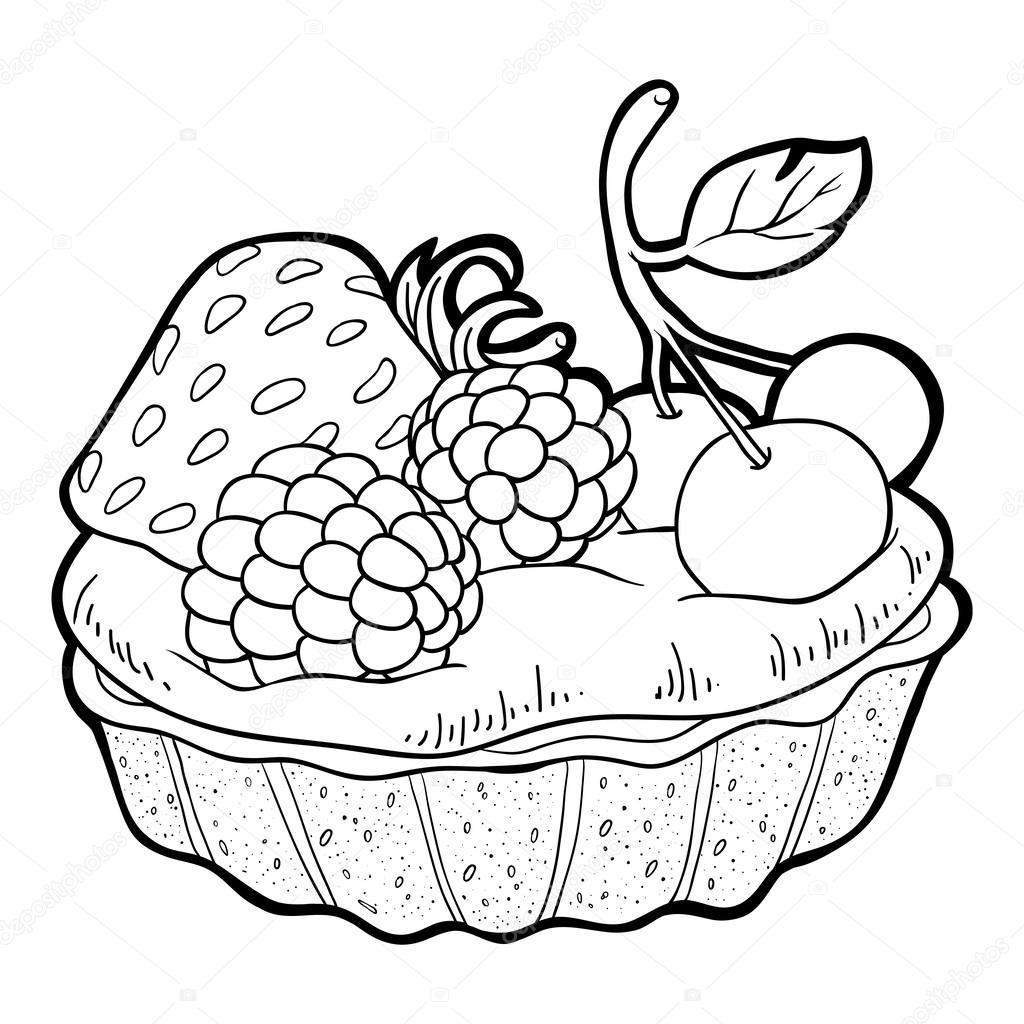 Coloring Book Cake Stock Vector C Ksenya Savva 55136009