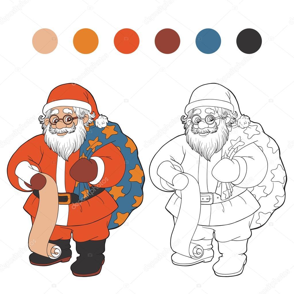 coloring book santa claus vector by ksenya_savva - Coloring Book Santa Claus