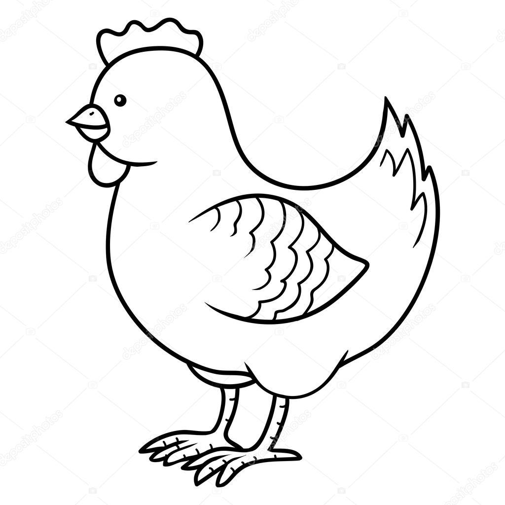 Coloring book (chicken) — Stock Vector © ksenya_savva #61088721