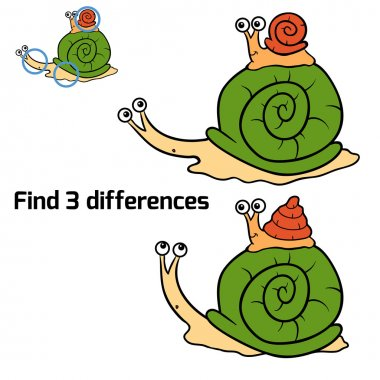 Find 3 differences (snails)