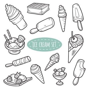 Set of vector ice cream