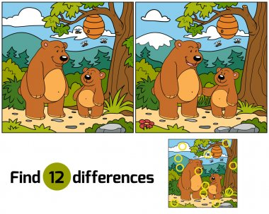 Find differences (bears family)