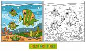 Fotografie Coloring book (fish family)