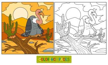 Coloring book (vulture)