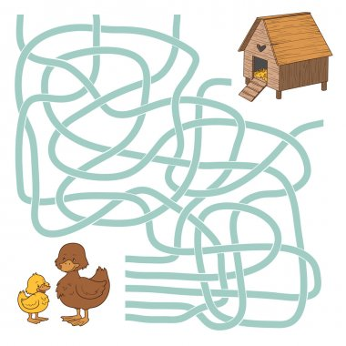 Maze game (ducks and home)