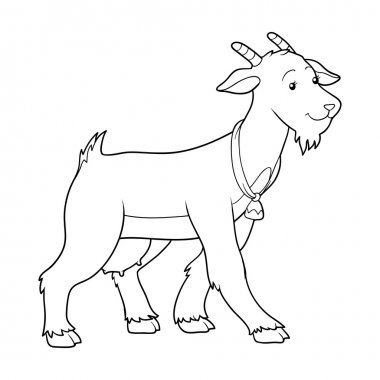 Coloring book (goat mother)