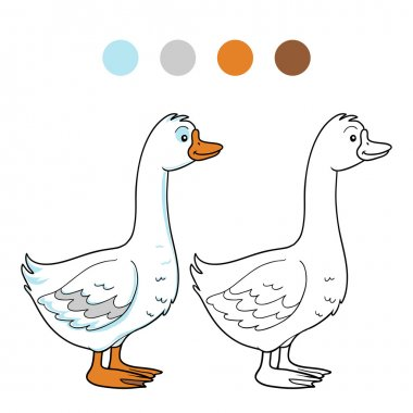 Coloring book (goose)