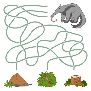 Maze game: anteater and anthill