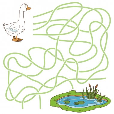 Maze game (goose and pond)
