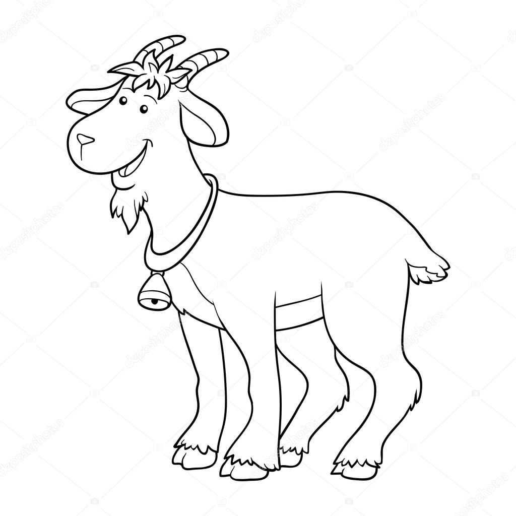Game for children  Coloring book (goat) — Vector by ksenya savva 5562fb936