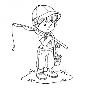 Coloring book (little boy fisher)