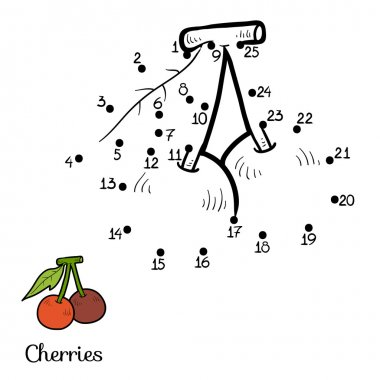 Numbers game: fruits and vegetables (cherry)