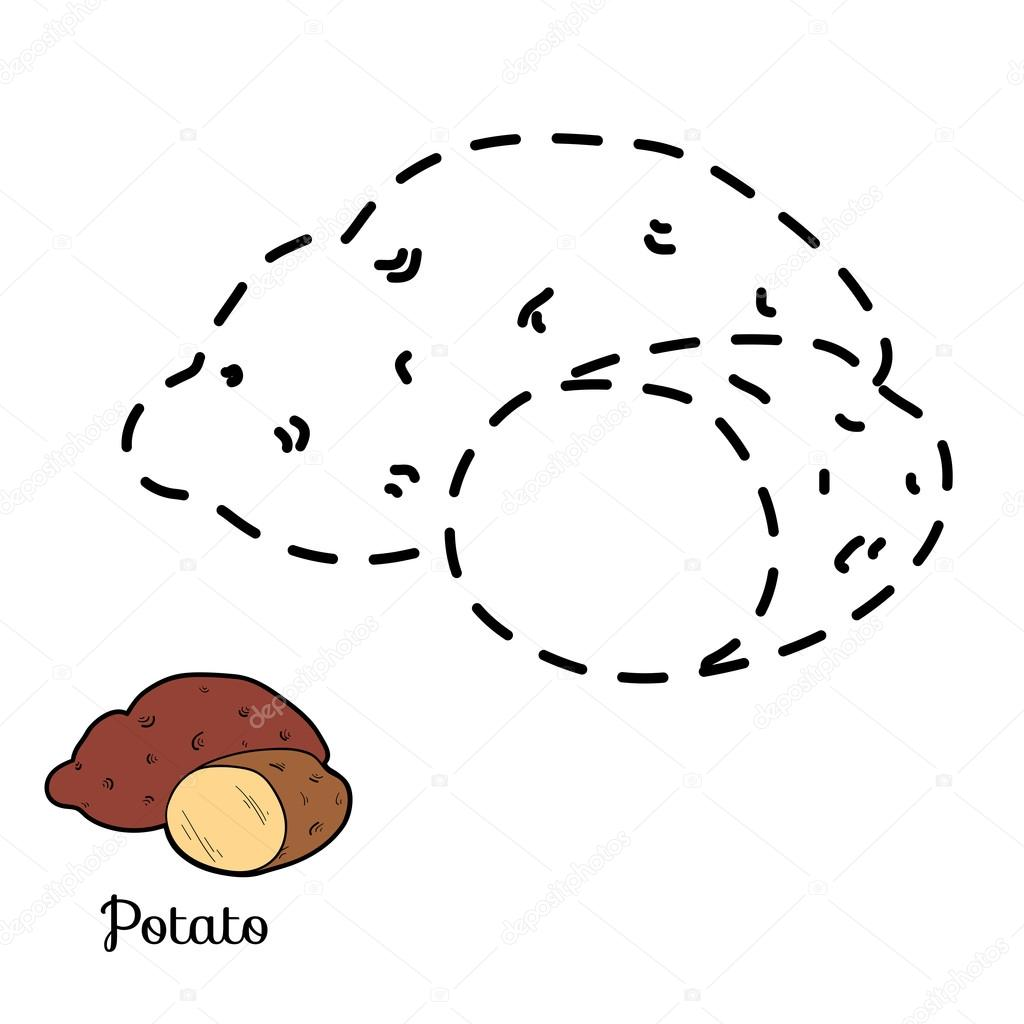 Connect the dots: fruits and vegetables (potato)