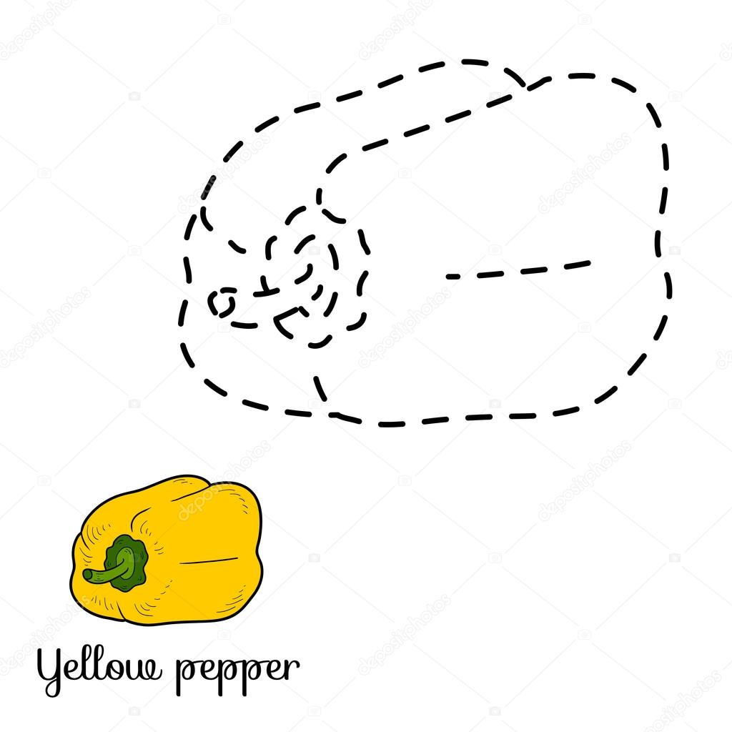 Connect the dots: fruits and vegetables (yellow pepper)