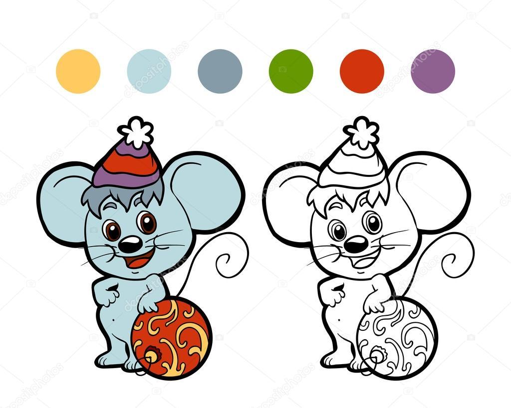 Книжка-раскраска: Рождество зимой мыши. Игра для детей ...