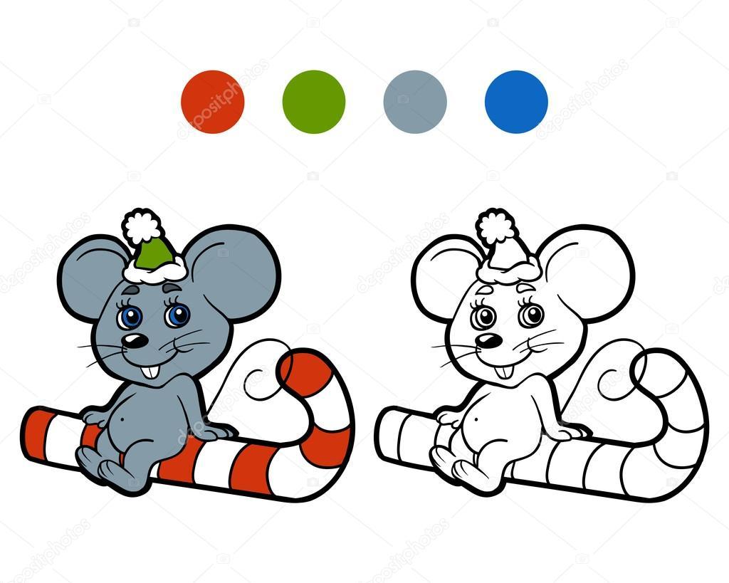 Картинка раскраска мыши. Книжка-раскраска: Рождество зимой ...