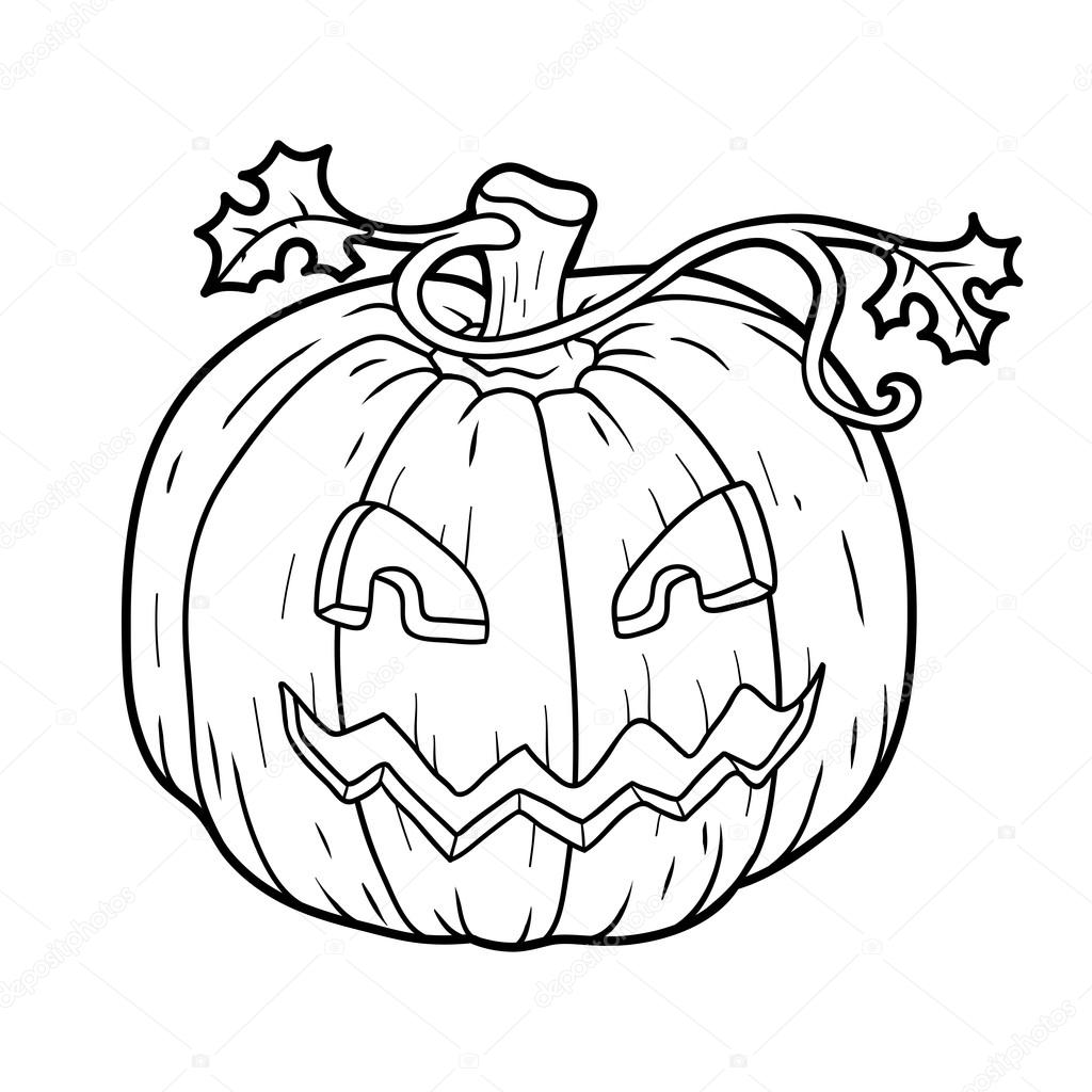 Coloring Book Halloween Pumpkin Stock Vector C Ksenya Savva