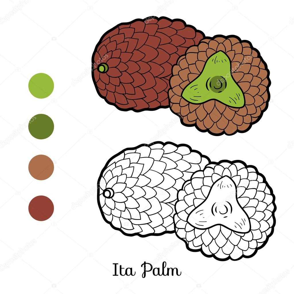 Coloring book for children: fruits and vegetables (Ita Palm)