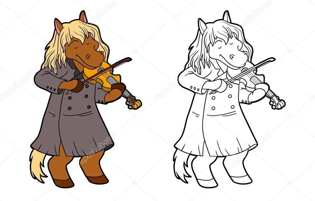 раскраска скрипка для детей раскраска для детей лошади и