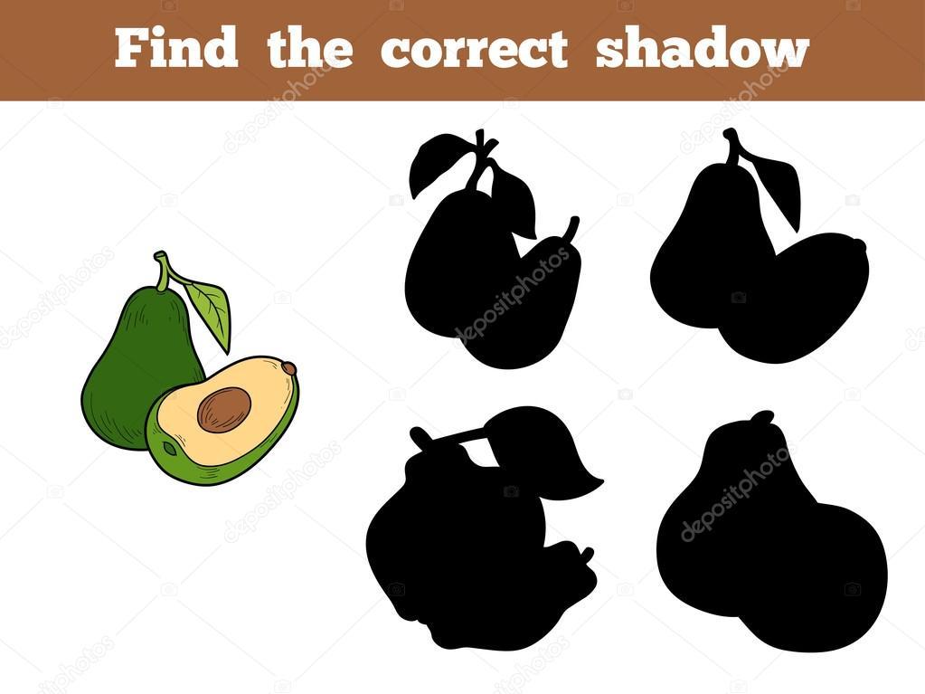 Find the correct shadow (avocado)