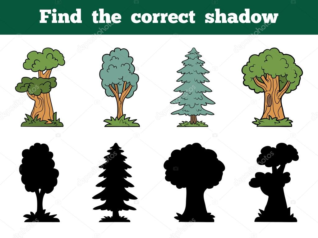 Find the correct shadow: trees