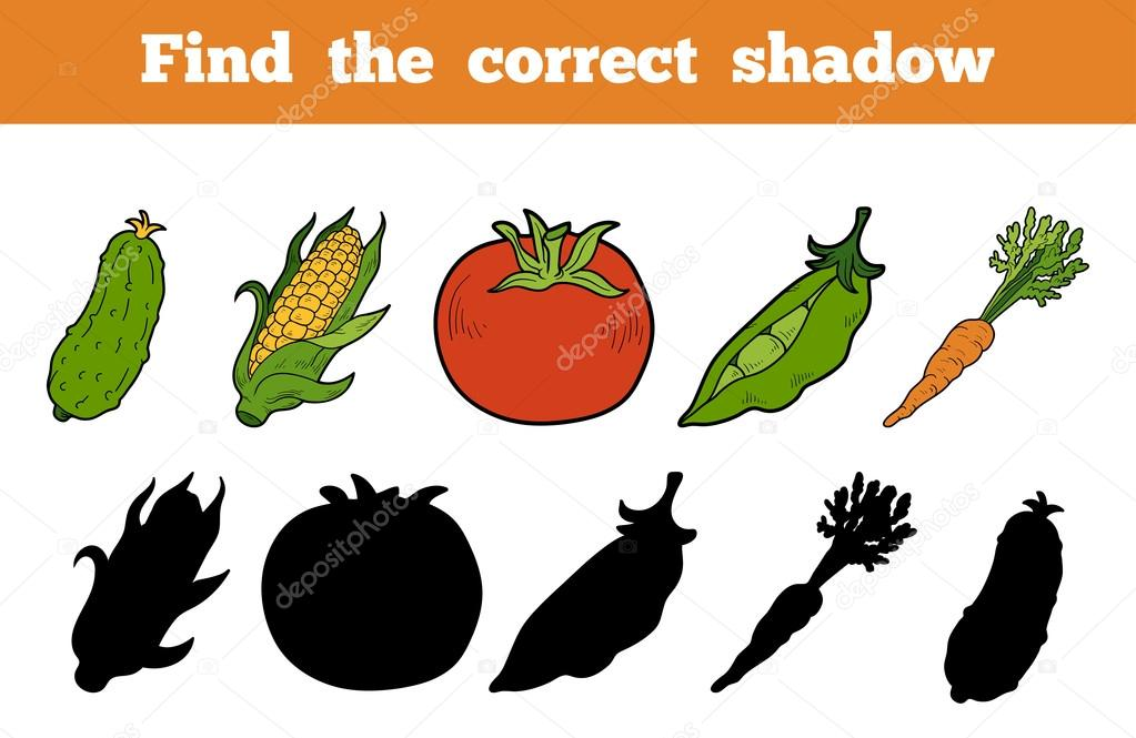 Find the correct shadow (vegetables)