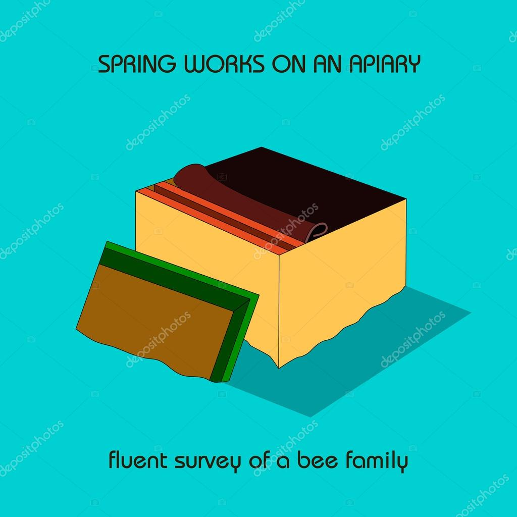 Fluent survey of a bee family spring work vetores de stock fluent survey of a bee family spring work vetores de stock ccuart Images