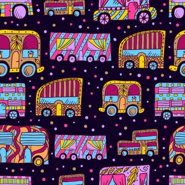 Seamless pattern with doodle recreational vechicles-1