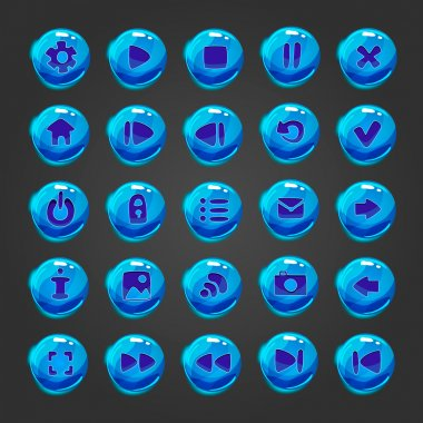 Big set of vector button for game design