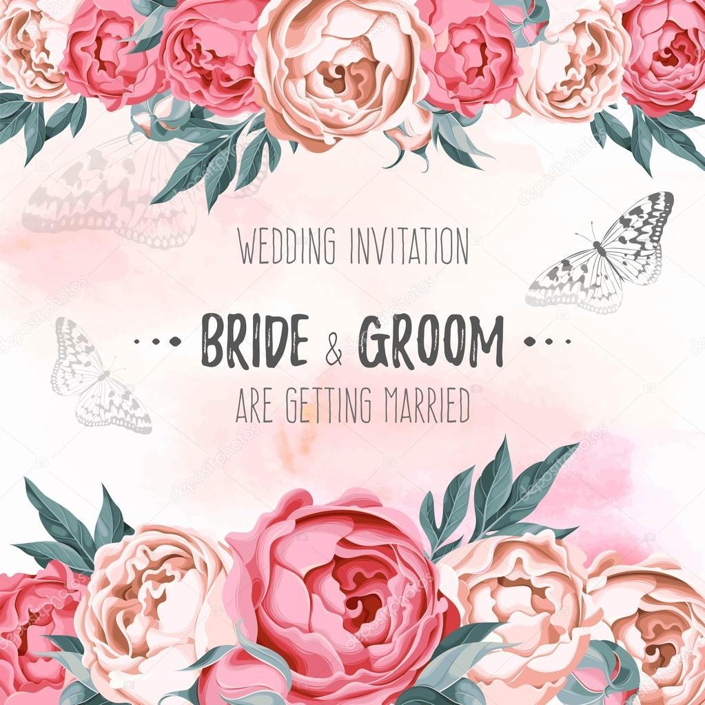 Vector wedding invitation