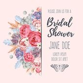 Photo Bridal shower invitation
