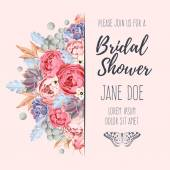 Fotografie Bridal shower invitation