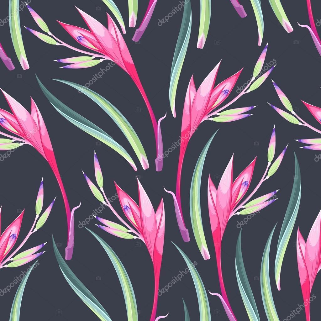 Jungle flowers seamless