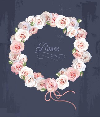 Wreath made of roses