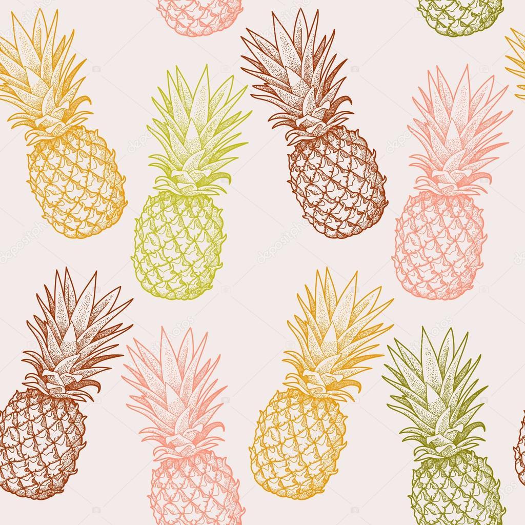 Bezszwowe Ananas Grafika Wektorowa 169 Greylilac 76567013