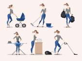Illustrations of housework