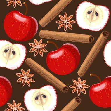Seamless apple and cinnamon