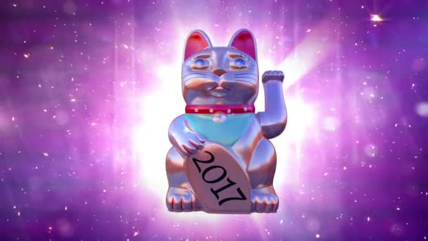 Új év 2017 loopable háttér-animáció