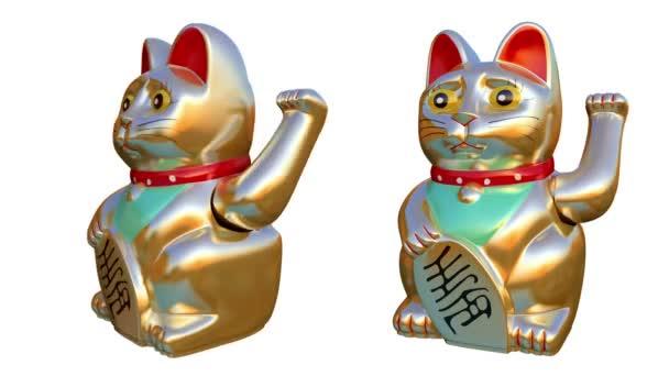 Orientální kočka mává