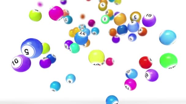 Falling Lotto or Bingo Balls animation