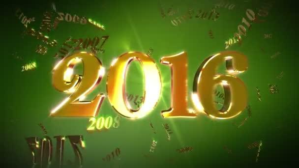 Nový rok 2016 pozadí Loopable animace