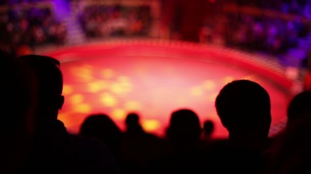 Le sagome del pubblico al circo