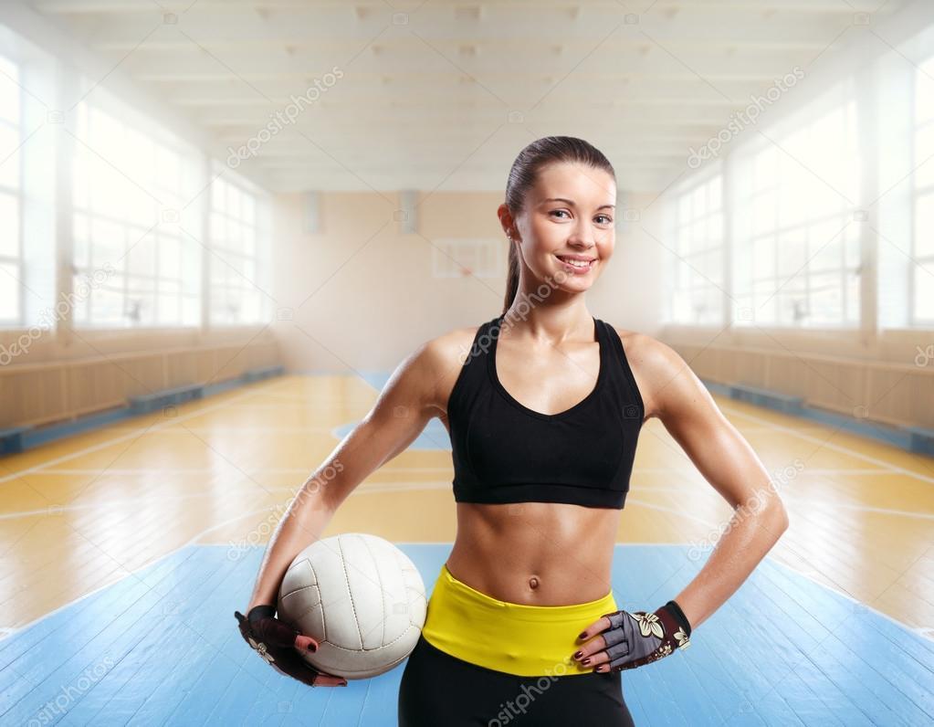 Сексуальная девушка волейбол 5
